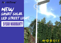 Aluminium Solar Powered Road Lights IP65 Dinding / Pole Mount Malam Area Security Lighting 3000LM