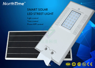 Cina Bridgelux Ootdoor LED Street Lamp Dengan Outdoor CCTV Camera / Lithium LiFePO4 Battery pabrik