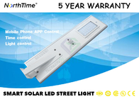 4300lm Lampu Jalan Terpadu Tenaga Surya / All In One Solar Street Courtyard Light