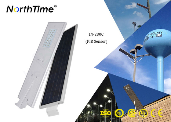 Kontrol Aplikasi Telepon 30W All In One Solar Street Light Dengan Solar Panel 65W
