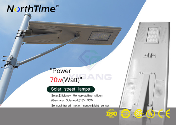 Cina Integrated Solar Street Light, Solar LED Street Light dengan Solarworld Solar World Jerman pabrik