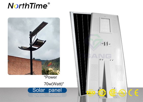 Cina High Power Solar Led Street Light dengan Lithium Battery Chips LED Bridgelux pabrik