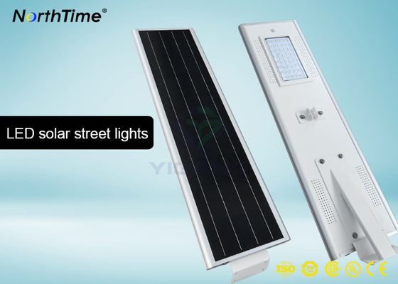 Cina Bridgelux LED 40 W Motion Sensor Street Lights Dengan 4 Hari Back Up Battery 4700 - 4800LM Distributor