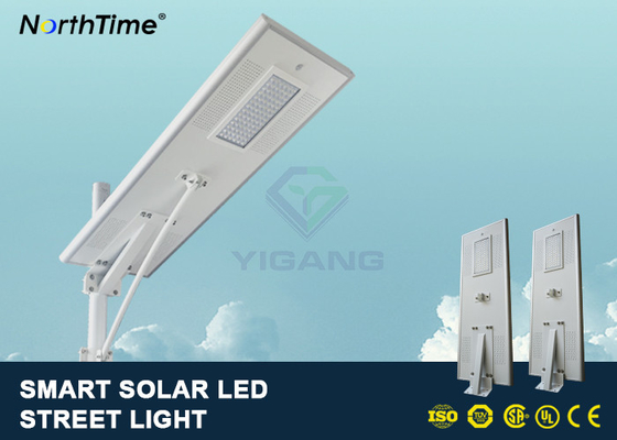 Cina PIR Motion Sensor Street Lights Dengan Solar Panel Untuk Parking Lot 7500 - 8000LM Distributor
