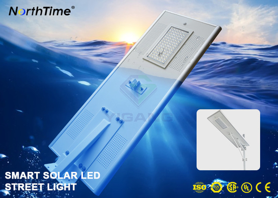 Cina Sistem Kontrol Ponsel APP Smart Solar Street Light Dengan Bridgelux LED Chips 8000LM Distributor