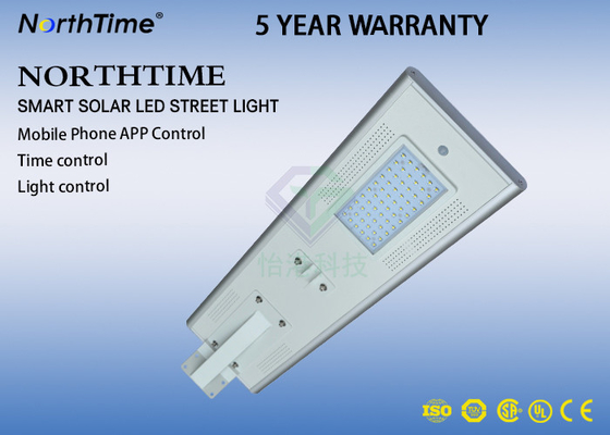 Cina LiFePo4 Battery LED Solar Lamp Dengan WIFI Camera / Solar Street Light All In One 50W ROHS IES Distributor
