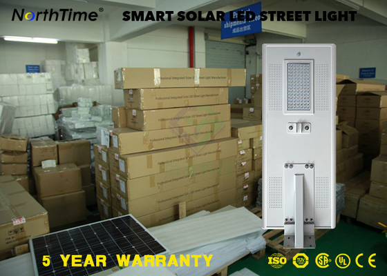 Cina 80Watt 9000lm Outdoor LED Solar Street Light Untuk Highway, Square Distributor